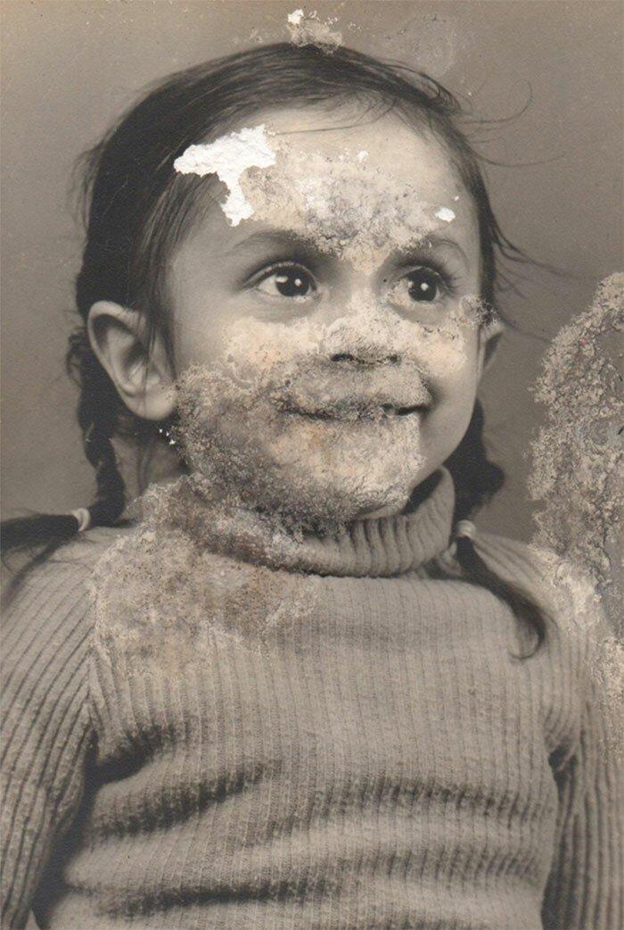 Восстановленные семейные фотографии: до и после   Интересное