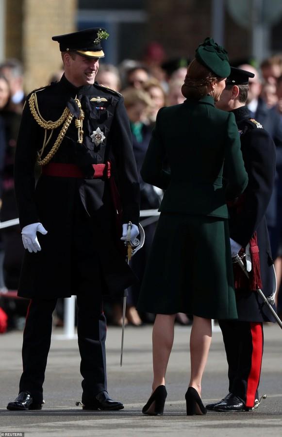 Королевская пара на Дня святого Патрика kate middleton