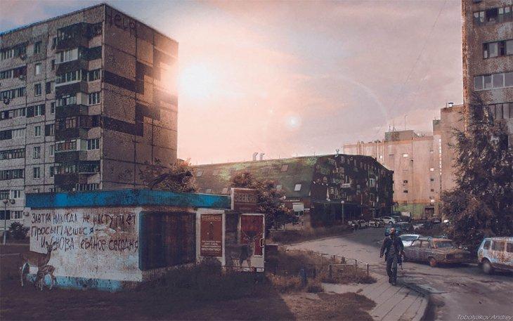 Русский художник превращает Google Map пейзажи и города России в фантастические миры Интересное