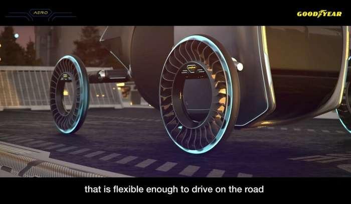 Goodyear предложила совместить колеса и воздушные винты у летающих машин   авто