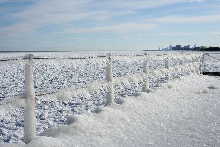 Озеро Мичиган из сказочных осколков