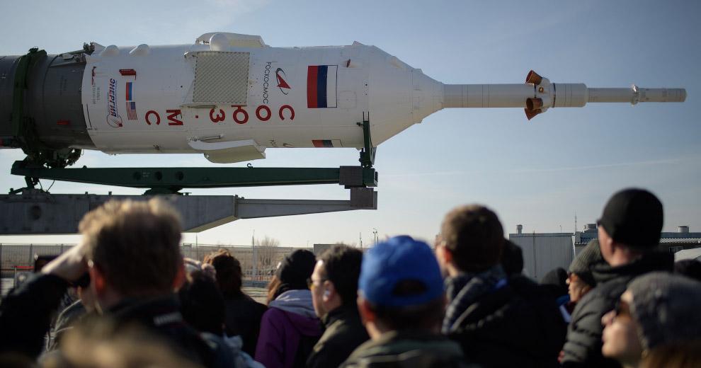 Старт космического корабля «Союз МС-12» Байконур